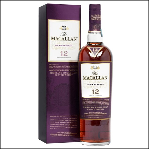 收購麥卡倫12年  紫鑽 /The Macallan Gran Reserva 12 Year Old 70cl 45.6%
