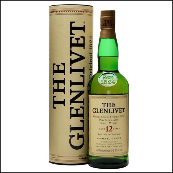GLENLIVET 12 YEAR OLD Old Presentation 70cl 40%