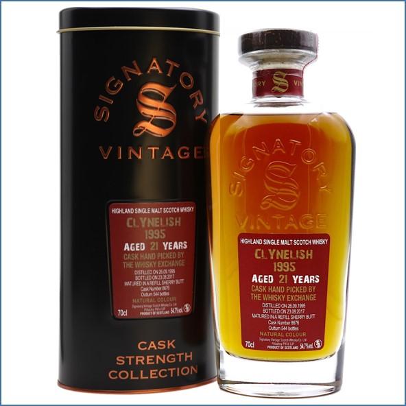 Clynelish 1995 21 Year Old 2017 Signatory for TWE Highland Single Malt Scotch Whisky 70cl 54.7%