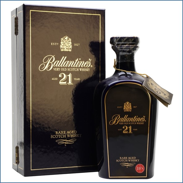 Ballantine's 21 Year Old  Ceramic Decanter Blended Scotch Whisky 70cl 43%
