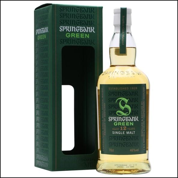 雲頂威士忌12年收購/Springbank Green 12 Year Old Bourbon Cask Campbeltown Single Malt Scotch Whisky 70cl 46%