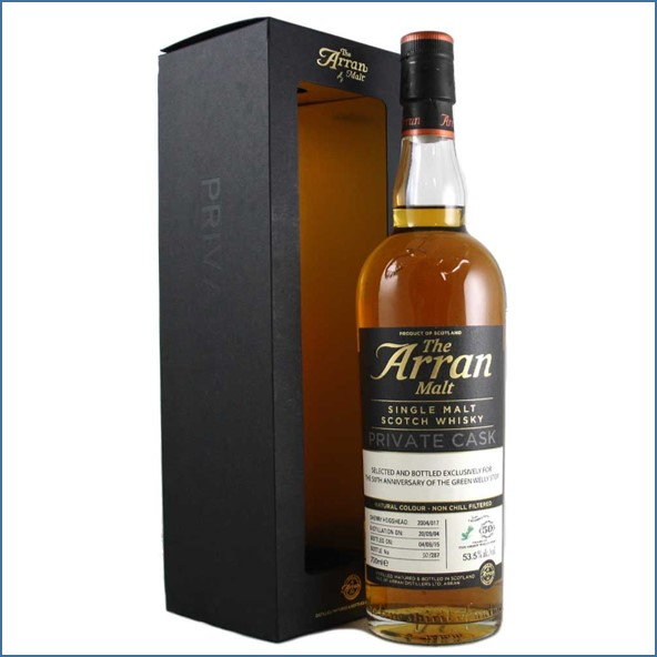 Arran 10 Year Old The Green Welly Stop 50th Anniversary Release 2 70cl 53.5%