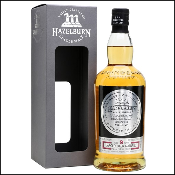 Hazelburn 9 Year Old  2007-2016  Barolo Cask Finish  Bottled 70cl 57.9%