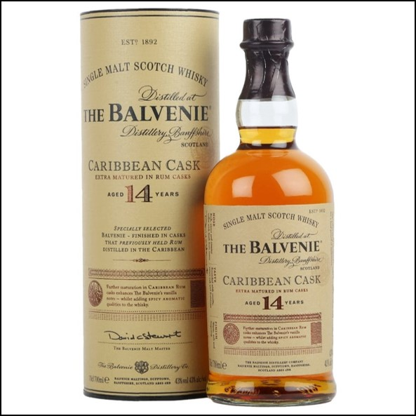 Balvenie 14 Year Old - Caribbean Cask 70cl 43%