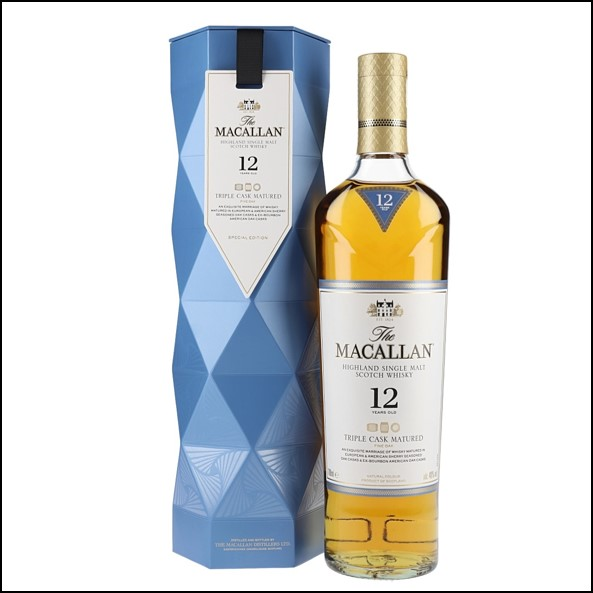 收購麥卡倫12年 Fine Oak/ Macallan 12 Year Old Triple Cask Xmas Gift Carton 70cl 40%