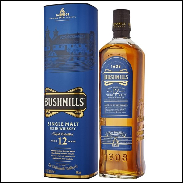 波希米爾愛爾蘭威士忌收購/Bushmills 12 Year Old Distillery Reserve rish Single Malt Whiskey 70cl 40%