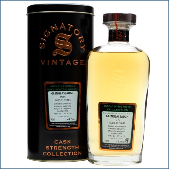 Glenglassaugh 1979 33 Year Old Cask #1548 Signatory Highland Single Malt Scotch Whisky 70cl 44.2%