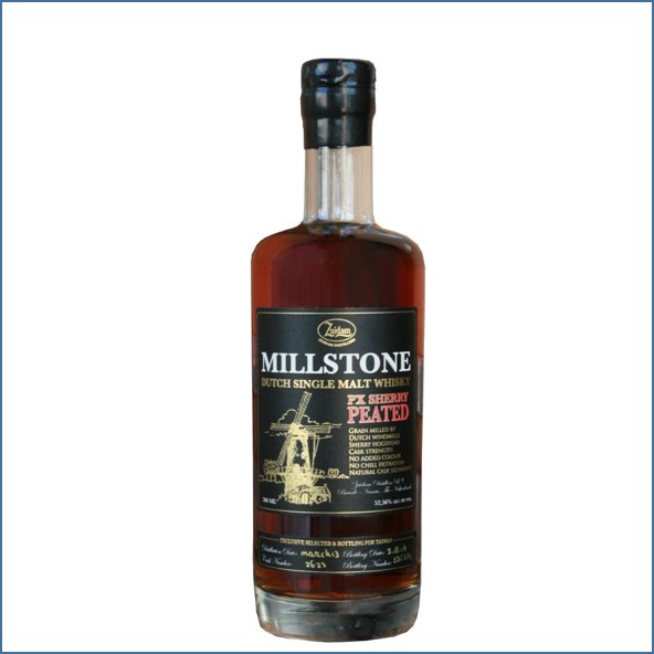 Millstone 1913-2016 PX Sherry - Peated Dutch Single Malt Zuidam Whisky 70cl 52.56%