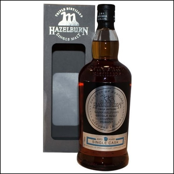 Hazelburn 9 Year Old 2007-2017 Sauternes Cask Matured  Single Cask Single Malt Scotch Whisky 70cl 56.9%