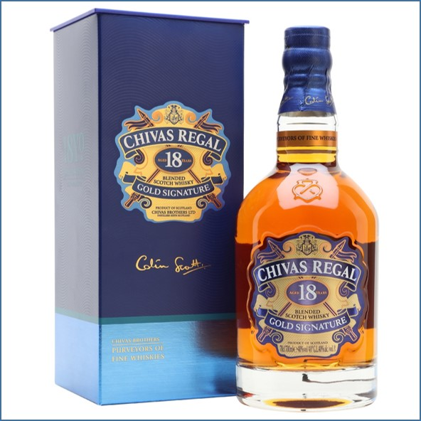 Chivas Regal 18 Year Old Gold Signature Blended Scotch Whisky 70cl 40%