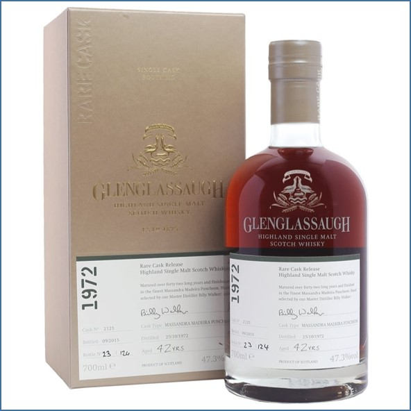 Glenglassaugh 1972 Cask #2125 42 year old Massandra Madeira Finish Rare Cask Release Batch 2 70cl 47.3%