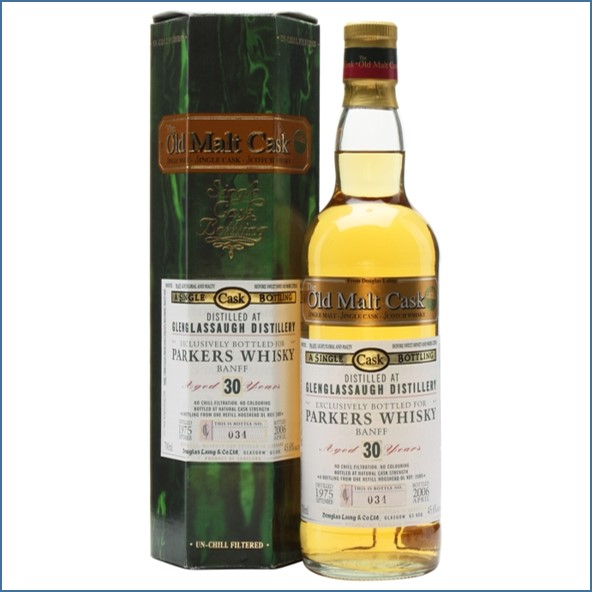 Glenglassaugh 1975 30 Year Old Parkers Whisky Highland Single Malt Scotch Whisky Douglas Laing 70cl 45.6%