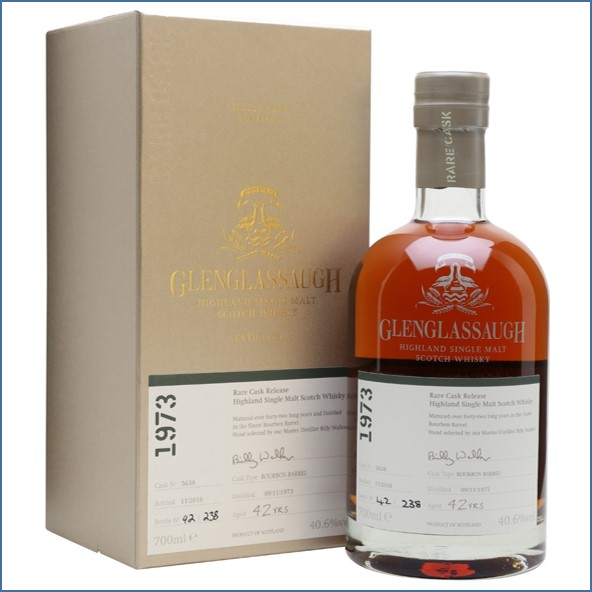 Glenglassaugh 1973 42 Year Old Cask #5638 Matured in a Bourbon Barrel Rare Cask Release Batch 3 70cl 40.6%