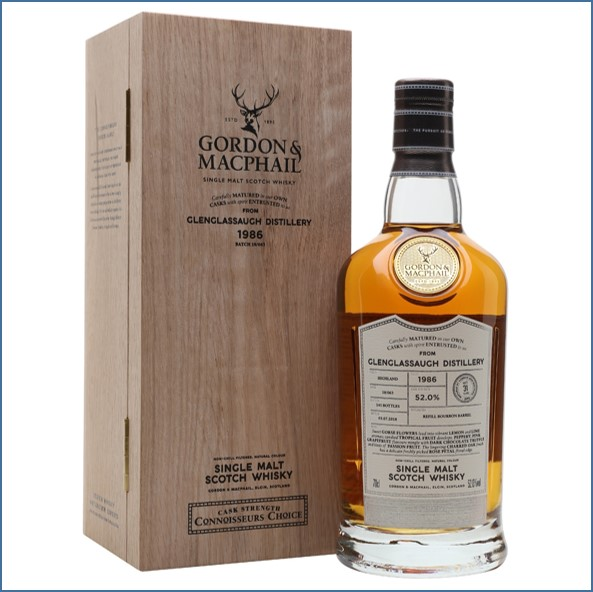 Glenglassaugh 1986 31 Year Old Connoisseurs Choice Highland Single Malt Scotch Whisky Gordon & MacPhail 70cl 52%