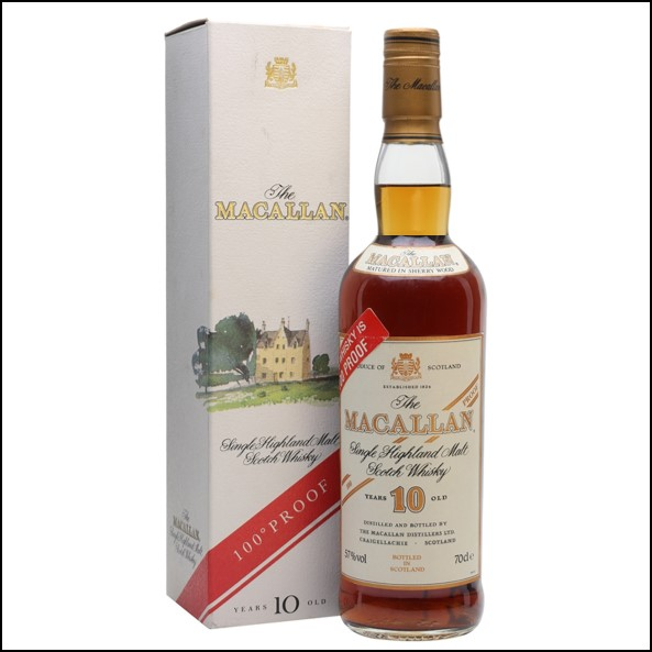 麥卡倫10年原酒/圓瓶-100° PROOF