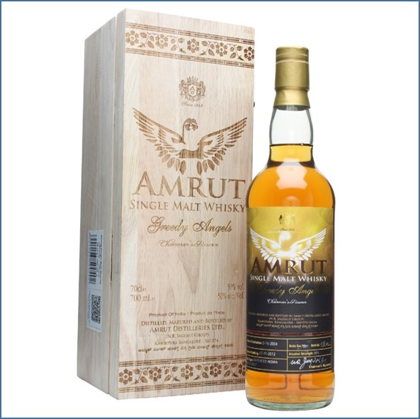 Amrut 2004 Greedy Angels Indian Single Malt Whisky 70cl 50%