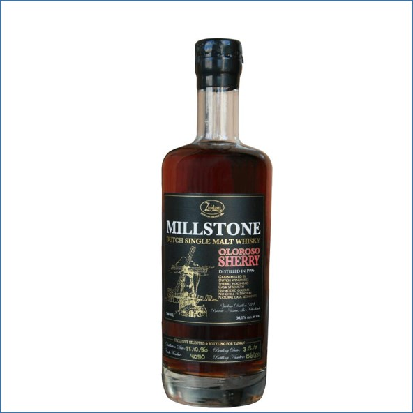 Millstone 1996-2016 Oloroso Sherry Cask Dutch Single Malt Zuidam Whisky 70cl 50.1%