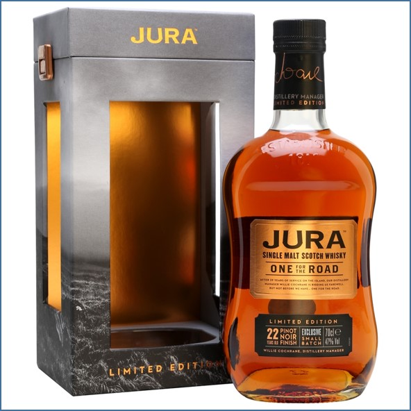 Isle of Jura 22 Year Old One For the Road Pinot Noir Finish Bot.2016 Island Single Malt Scotch Whisky 70cl 47%
