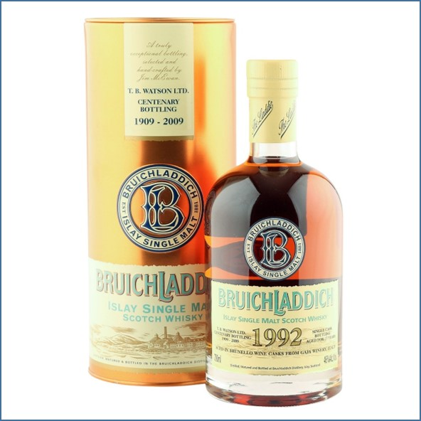 Bruichladdich 17 Year Old  1992 TB Watson 2009 Centenary with Tin 70cl 46%