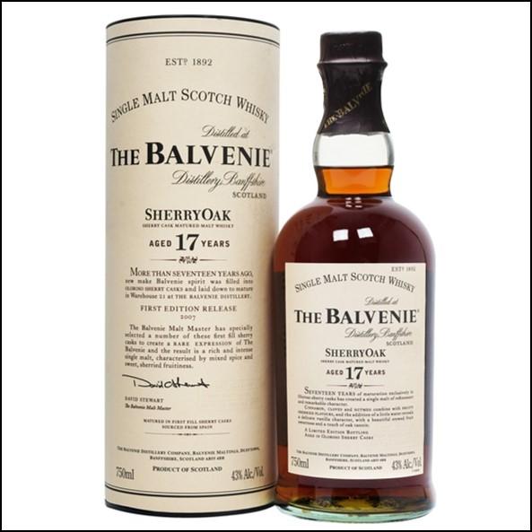 Balvenie 17 Year Old  Sherry Oak  75cl 43%
