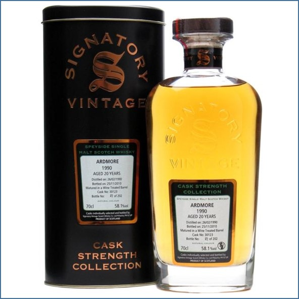 Ardmore 20 Year Old 1990 Cask #30123  Signatory 70cl 58.1%