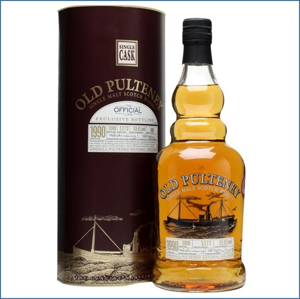 Old Pulteney 1990 Cask #5272 70cl 53.6%