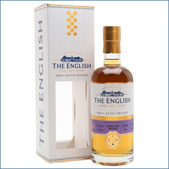 The English Gently Smoked Sherry Cask Single Malt English Whisky 70cl 46%