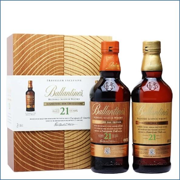 Ballantine's 21 Year Old Signature Oak American  Oak Casks 50cl European Oak Casks  50cl Limited Release 40%