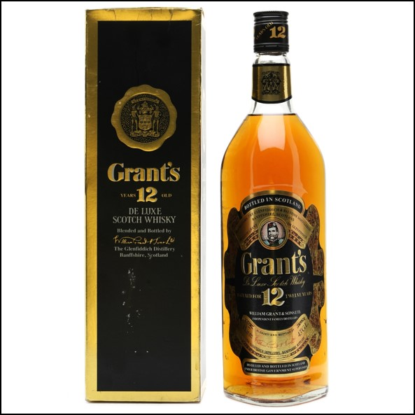 Grant's 12 Years Old De Luxe Bottled 1980s 100cl 40%
