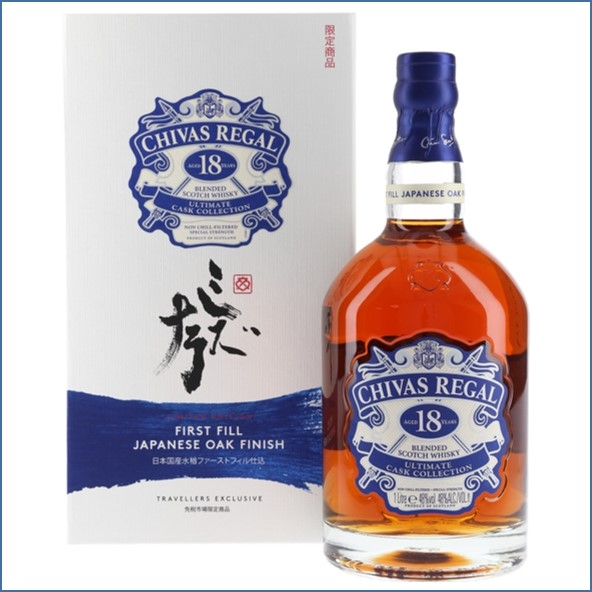Chivas Regal 18 Year Old First Fill Japanese Oak Finish 100cl 48%