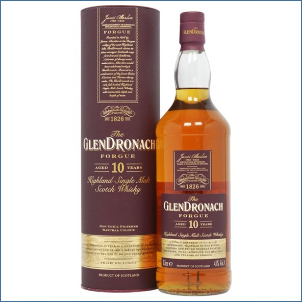 Glendronach 10 Year Old Forgue 100cl 43%