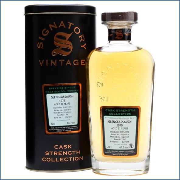Glenglassaugh 1979 31 Year Old Cask #1546 Signatory Highland Single Malt Scotch Whisky 70cl 44.7%