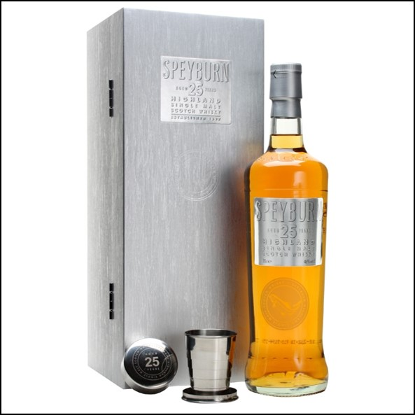 Speyburn 25 Year Old with 2 Extendable Cups Speyside Single Malt Scotch Whisky 70cl 46%