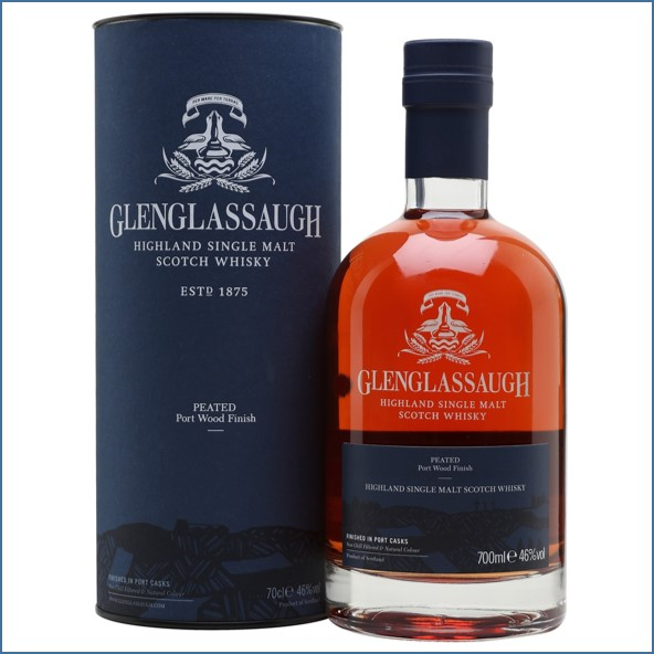 Glenglassaugh Peated Port Wood Finish Highland Single Malt Scotch Whisky 70cl 46%