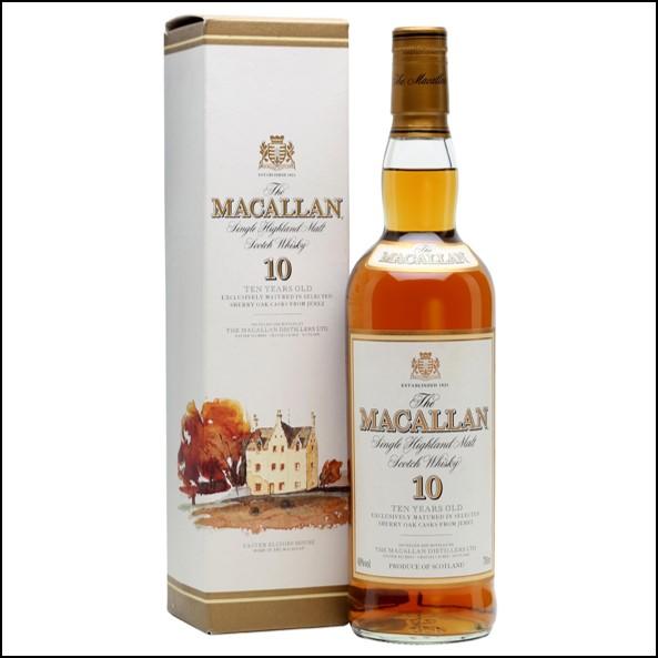 收購麥卡倫10年 雪莉桶圓瓶-莊園版/Macallan 10 Year Old Sherry Oak 70cl 40%