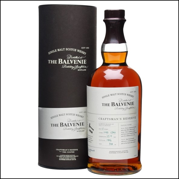 Balvenie 15 Year Old 1996 Craftman's Reserve The Cooper  2012 70cl 59.4%