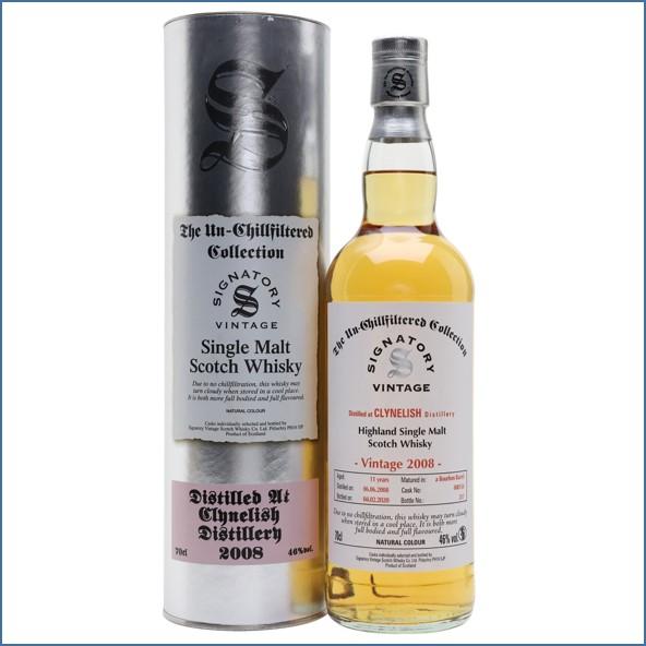 Clynelish 2008 11 Year Old 2020 Signatory Highland Single Malt Scotch Whisky 70cl 46%