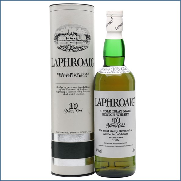 Laphroaig 10 Year Old Bot.1990s Pre Royal Warrant 70cl 40%
