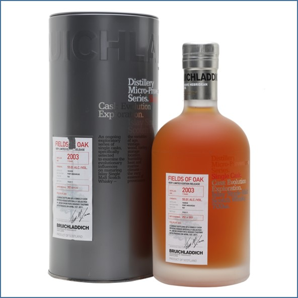 Bruichladdich 7 Year Old  Micro 2003 Provenance  Fields Of Oak 70cl 55%