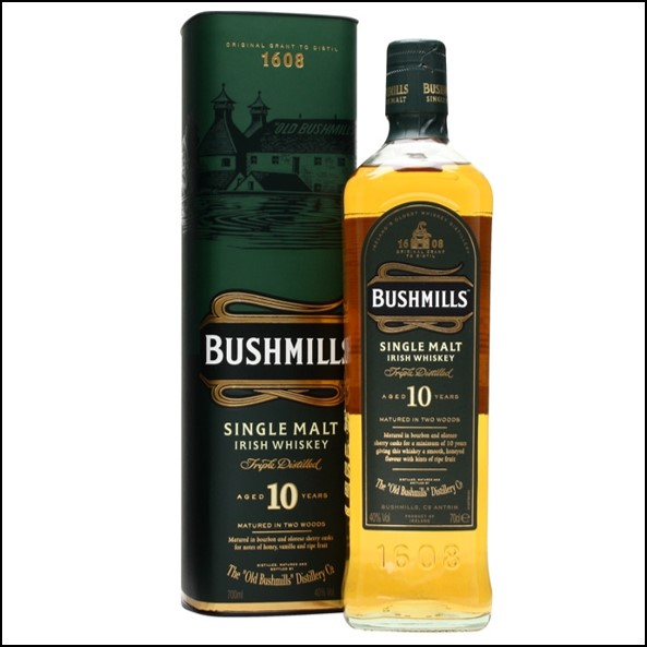 波希米爾愛爾蘭威士忌收購/ Bushmills 10 Year Old Irish Single Malt Whiskey 70cl 40%