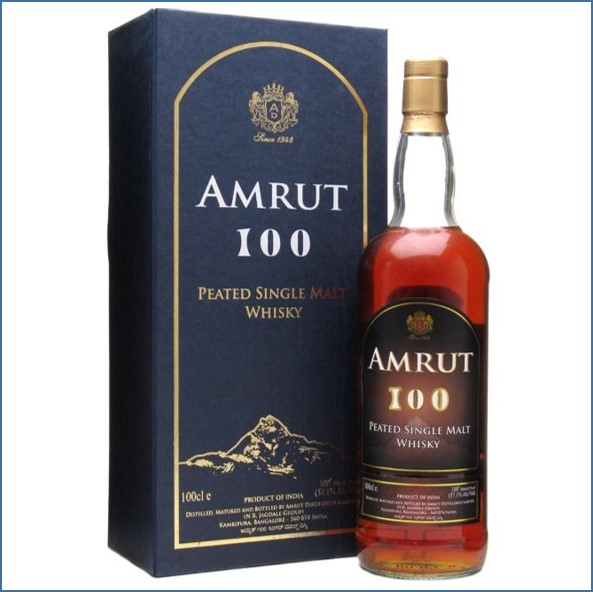 Amrut 100 Peated Indian Single Malt Indian Single Malt Whisky 100cl 57.1%