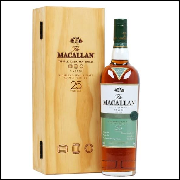 麥卡倫25年 Fine Oak 曼妙瓶木盒