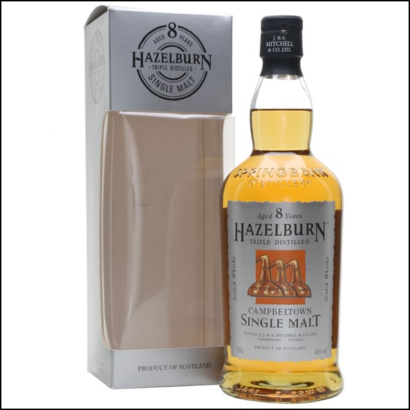 Hazelburn 8 Year Old Campbeltown Single Malt Scotch Whisky 70cl 46%