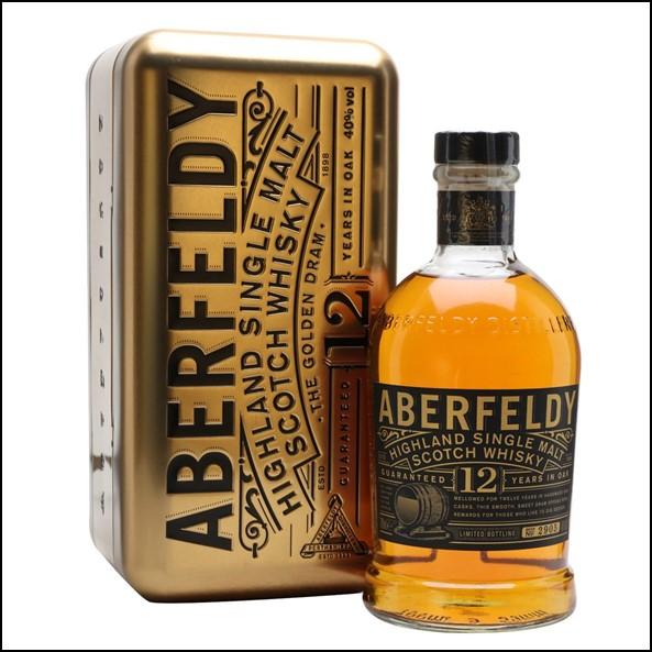 Aberfeldy 12 Year Old Single Malt Scotch Whisky 70cl 40.0%  The Golden Dram 收購艾伯迪12年