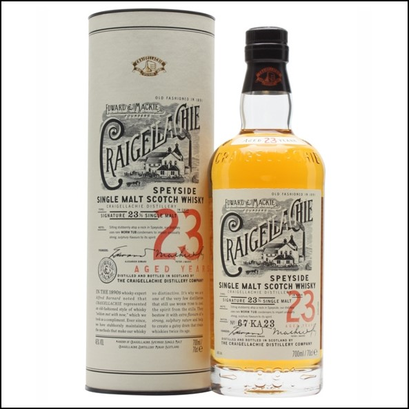 Craigellachie 23 Year Old Speyside Single Malt Scotch Whisky 70cl 46%