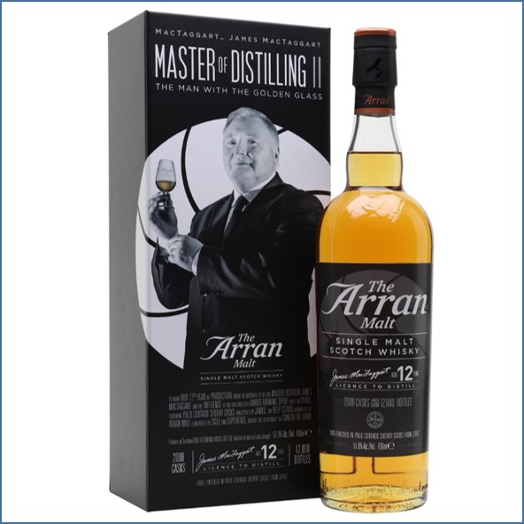 Arran 12 Year Old The Man With The Golden Glass 70cl 51.8%