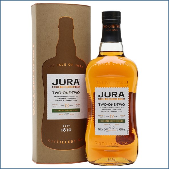 Jura Two-One-Two 2006 13 Year Old Island Single Malt Scotch Whisky 70cl 47.5%