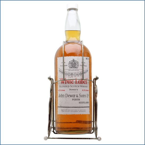Dewar's White Label Bot.1980s Gallon Bottle Blended Scotch Whisky 450cl 40%