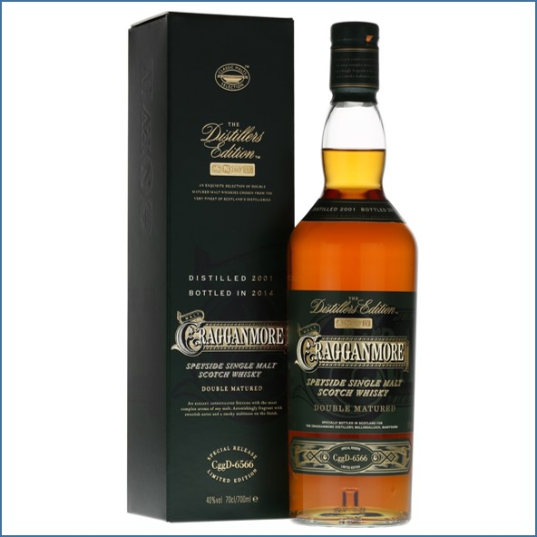 Cragganmore 2014 Distillers Edition 2001  Speyside Single Malt Scotch Whisky 70cl 40%