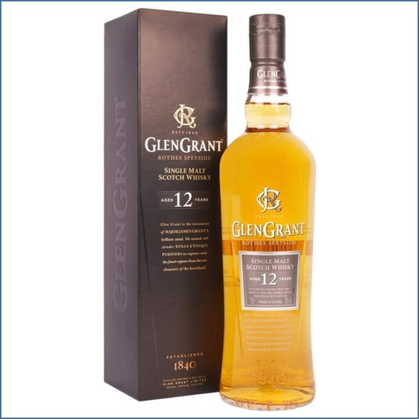 Glen Grant 12 Year Old Speyside Single Malt Scotch Whisky 70cl 43%